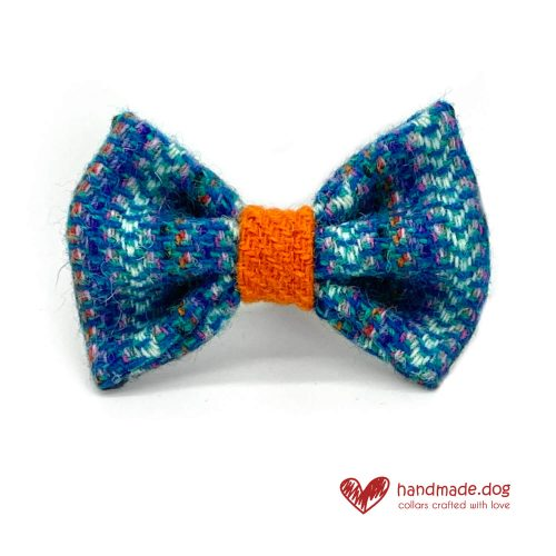Handmade 'Harris Tweed' Limited Edition Madrid Dog Dickie Bow