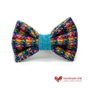 Handmade 'Harris Tweed' Limited Edition Marrakesh Dog Dickie Bow