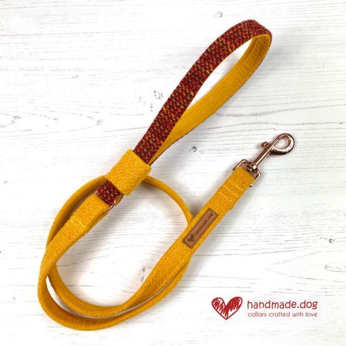 Handmade 'Harris Tweed' Limited Edition Bucharest Dog Lead