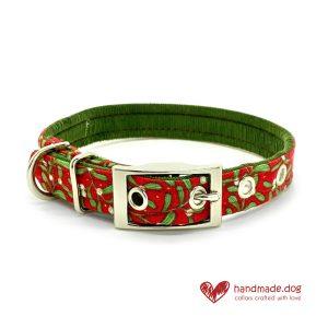 Handmade Christmas Merry Mistletoe Dog Collar