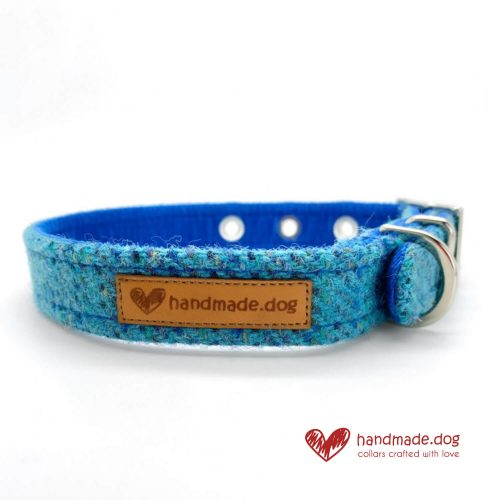 Handmade 'Harris Tweed' Limited Edition Athens Dog Collar.
