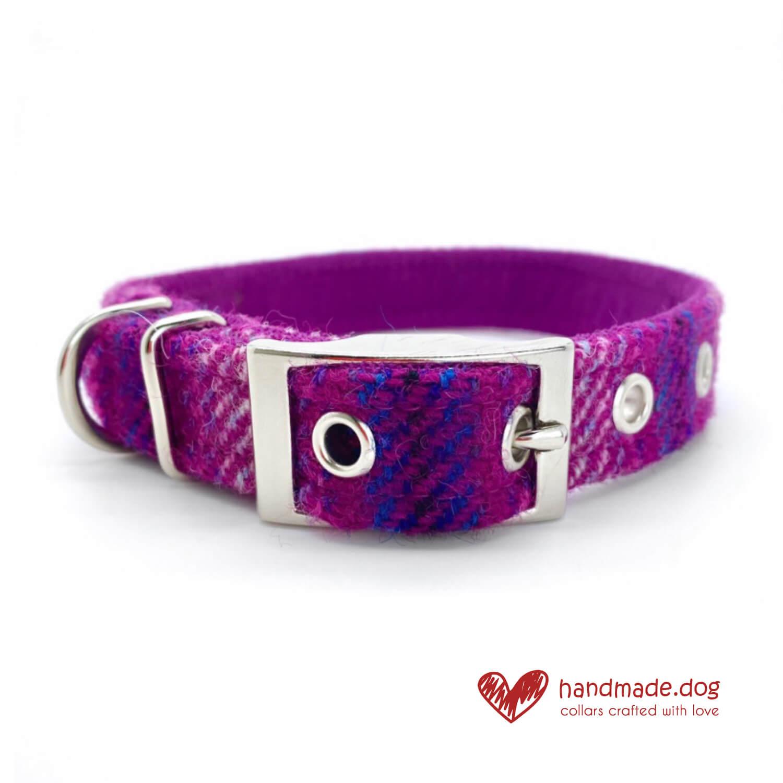 Handmade 'Harris Tweed' Limited Edition Jaipur Dog Collar.