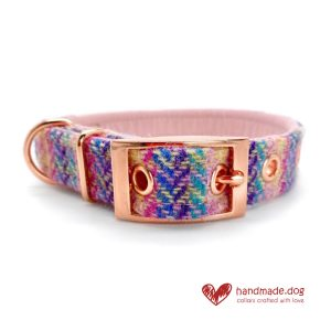 Handmade 'Harris Tweed' Limited Edition Florence Dog Collar.