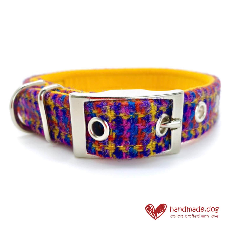 Handmade 'Harris Tweed' Limited Edition Istanbul Dog Collar
