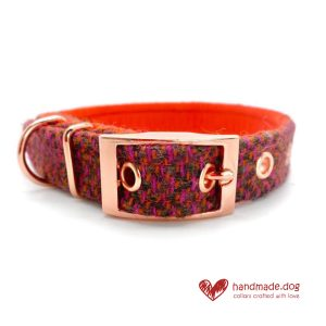 Handmade 'Harris Tweed' Limited Edition Jaipur Dog Collar.