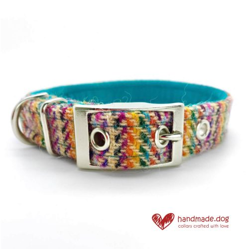 Handmade 'Harris Tweed' Limited Edition San Francisco Dog Collar.