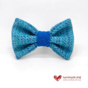 Handmade 'Harris Tweed' Limited Edition Athens Dog Dickie Bow.
