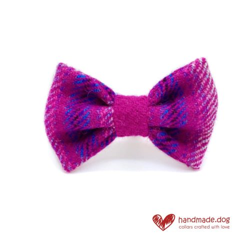 Handmade 'Harris Tweed' Limited Edition Jaipur Dog Dickie Bow.