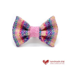 Handmade 'Harris Tweed' Limited Edition Florence Dog Dickie Bow.