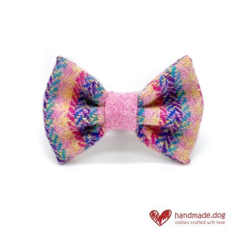 Handmade 'Harris Tweed' Limited Edition Florence Dog Dickie Bow.