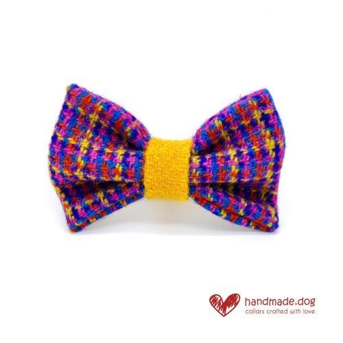 Handmade 'Harris Tweed' Limited Edition Istanbul Dog Dickie Bow