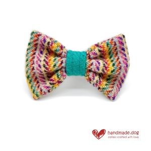 Handmade 'Harris Tweed' Limited Edition San Francisco Dog Dickie Bow.