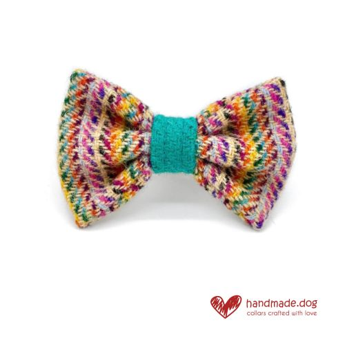 Handmade 'Harris Tweed' Limited Edition San Francisco Dog Dickie Bow.