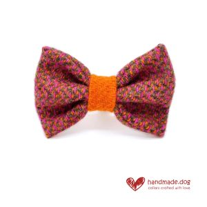 Handmade 'Harris Tweed' Limited Edition Jaipur Dog Dickie Bow.